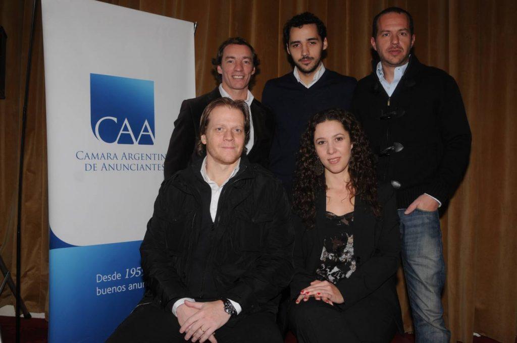 Juan Ignacio Estévez (Personal), Pedro di Risio (Mobext), Diego Martínez Núñez (MMA), Martín Jones (CAA) y Carolina Bertoni (Google)